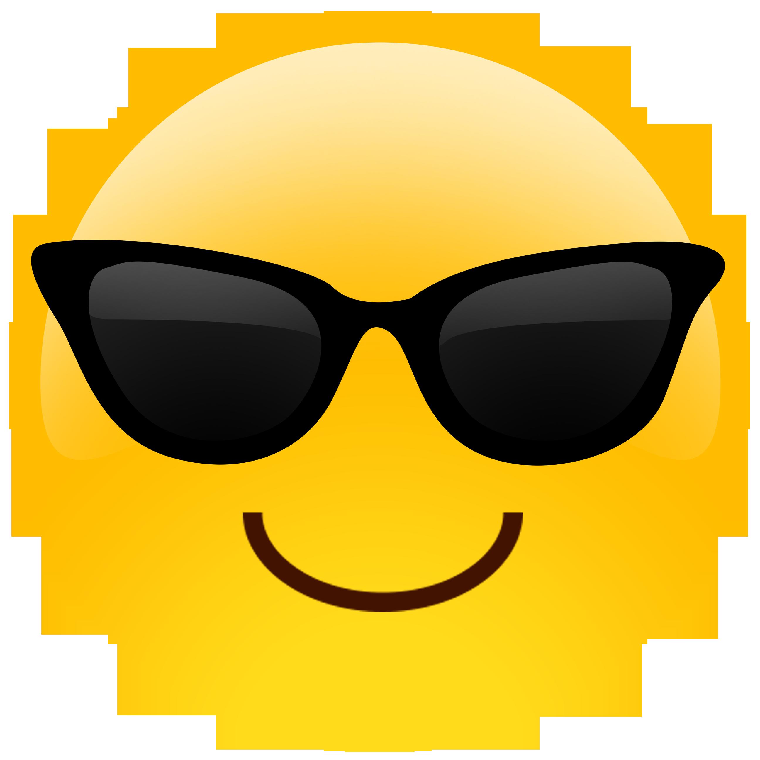 clip black and white library Sunglasses Emoji Cutouts
