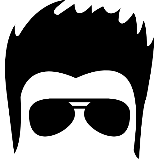 picture freeuse stock Male hair face with sunglasses