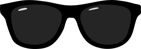 banner transparent Black Shades Clip Art at Clker
