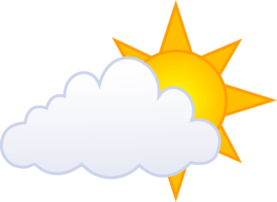 clipart black and white download Cloud . Sunny clipart.