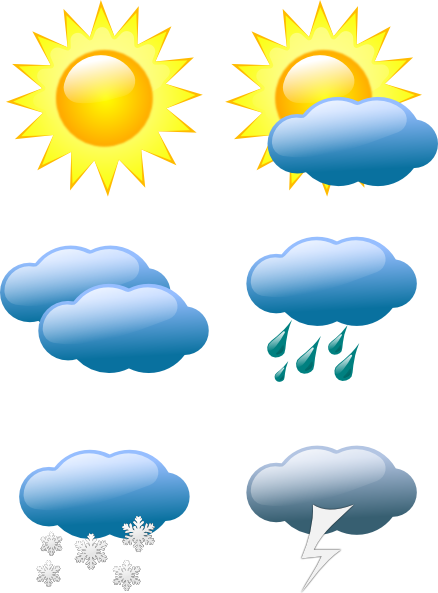 jpg transparent download Weather clip art symbols. Sunny clipart.