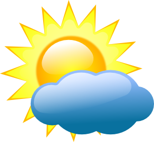 graphic library Sunny clipart. Weather panda free images.