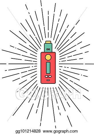 picture free Sunray vector. Eps burst electric cigarette
