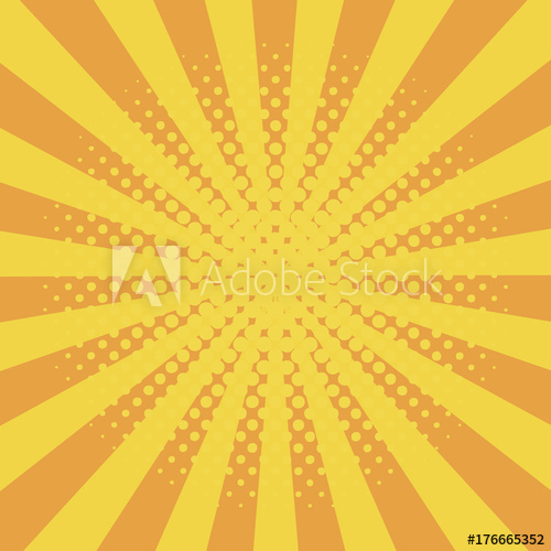 banner freeuse stock Sunray vector. Comic background with halftone