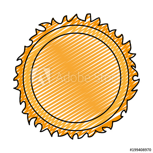 image black and white library Shine sun ray weather. Sunray vector doodle.