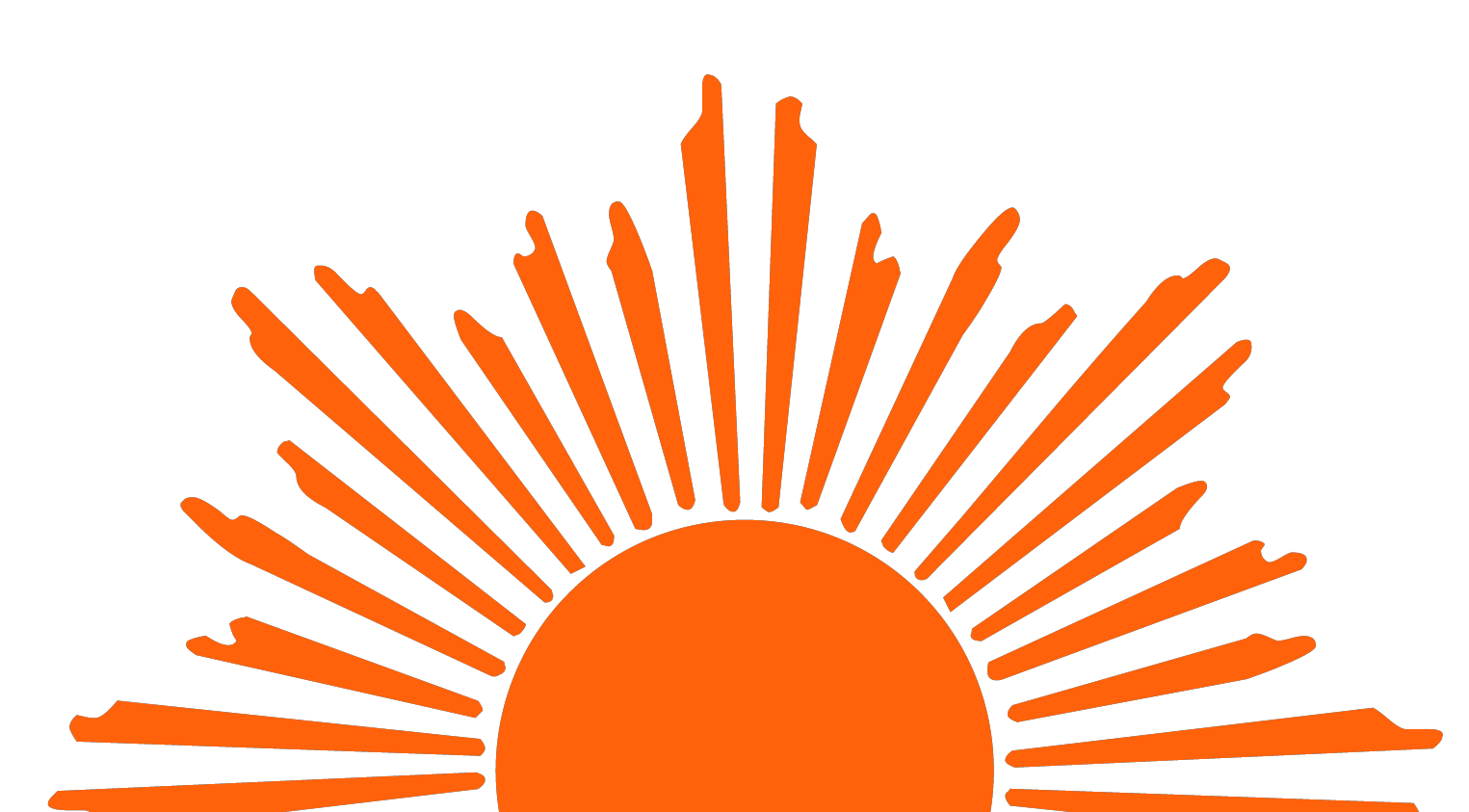 clip art free library Rising sun free on. Sunrise clipart