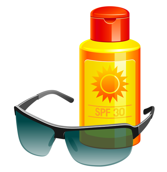 vector royalty free Lotion and sunglass png. Kid sunscreen clipart