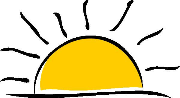 svg black and white Sunset Clip Art at Clker