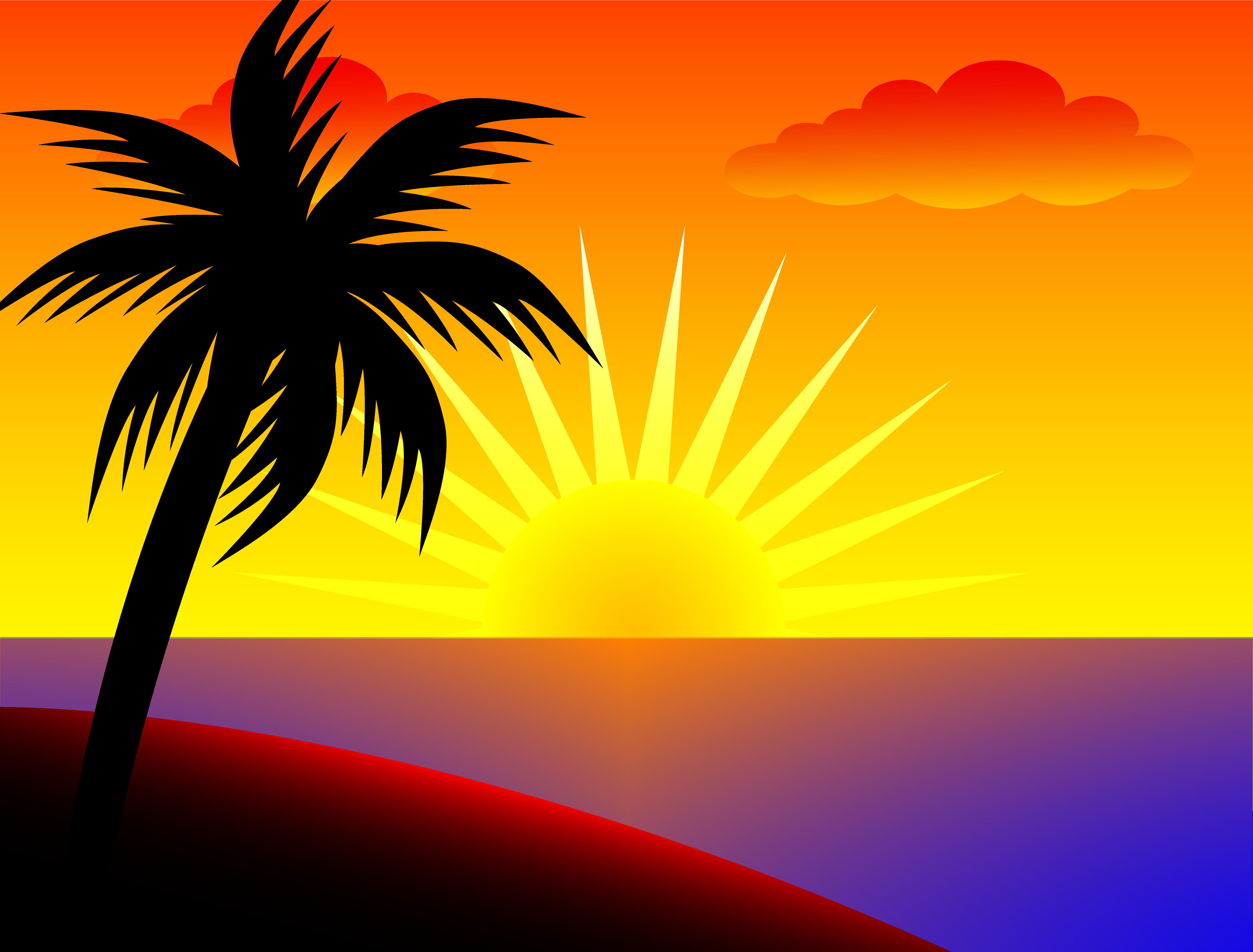 clipart Sunset clipart. Sun clip art over.