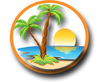 picture library Travel by design paradise. Sunset clipart island vacation