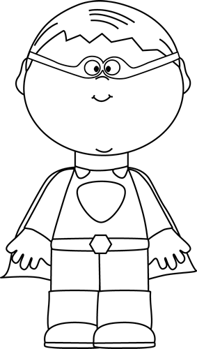 picture royalty free download Boy clip art. Superhero cape clipart black and white