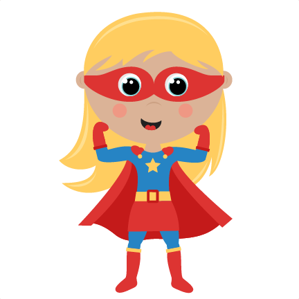 jpg transparent download Superhero kids clipart. Girl