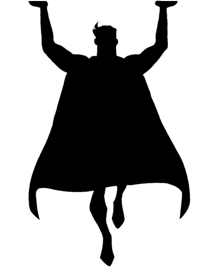 stock Silhouette Superhero at GetDrawings