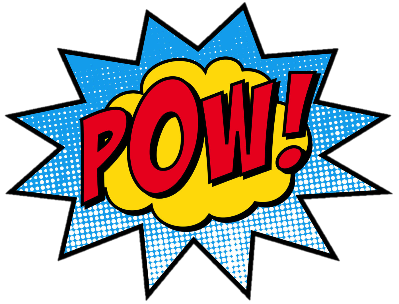 vector transparent The power of words. Superheroes clipart fight