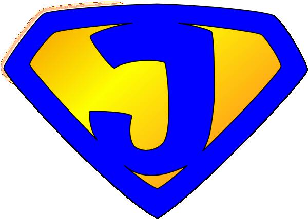 banner library stock Jesus Superhero Logo Blue