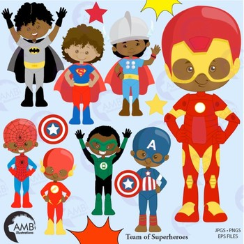svg transparent download Superhero kids clipart. African american amb