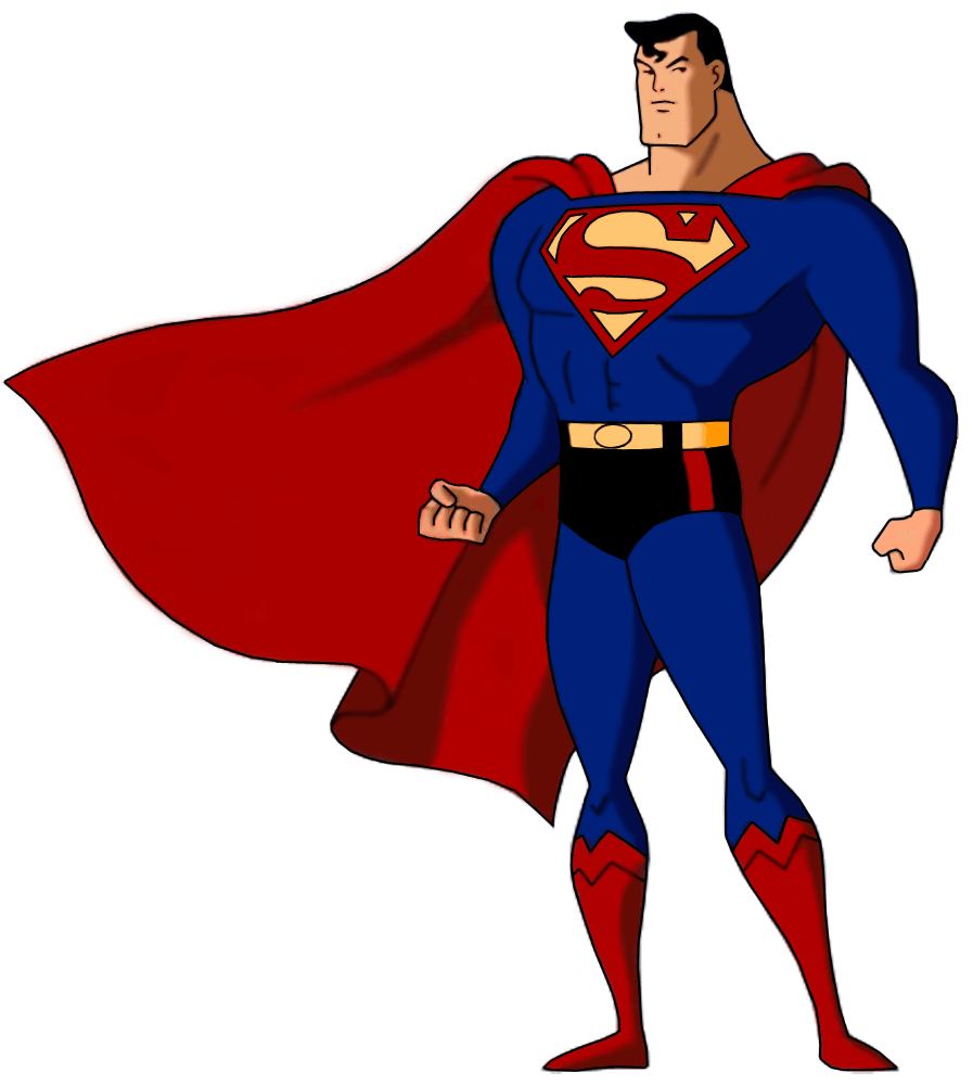 vector black and white stock Superman PNG HD