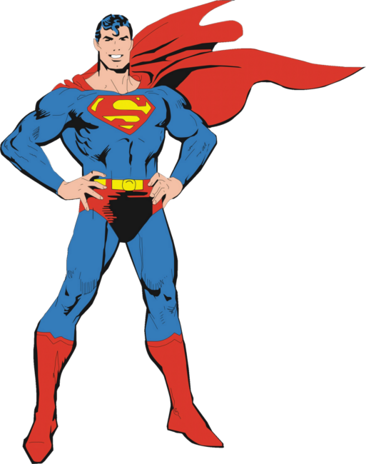 graphic transparent Superman clipart.  collection of png