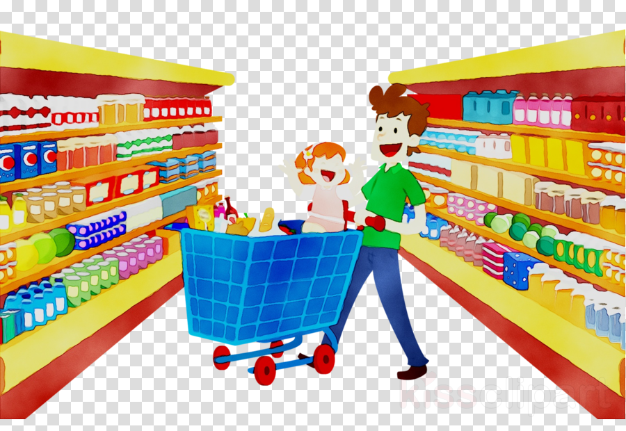 free stock Cartoon product retail . Supermarket clipart