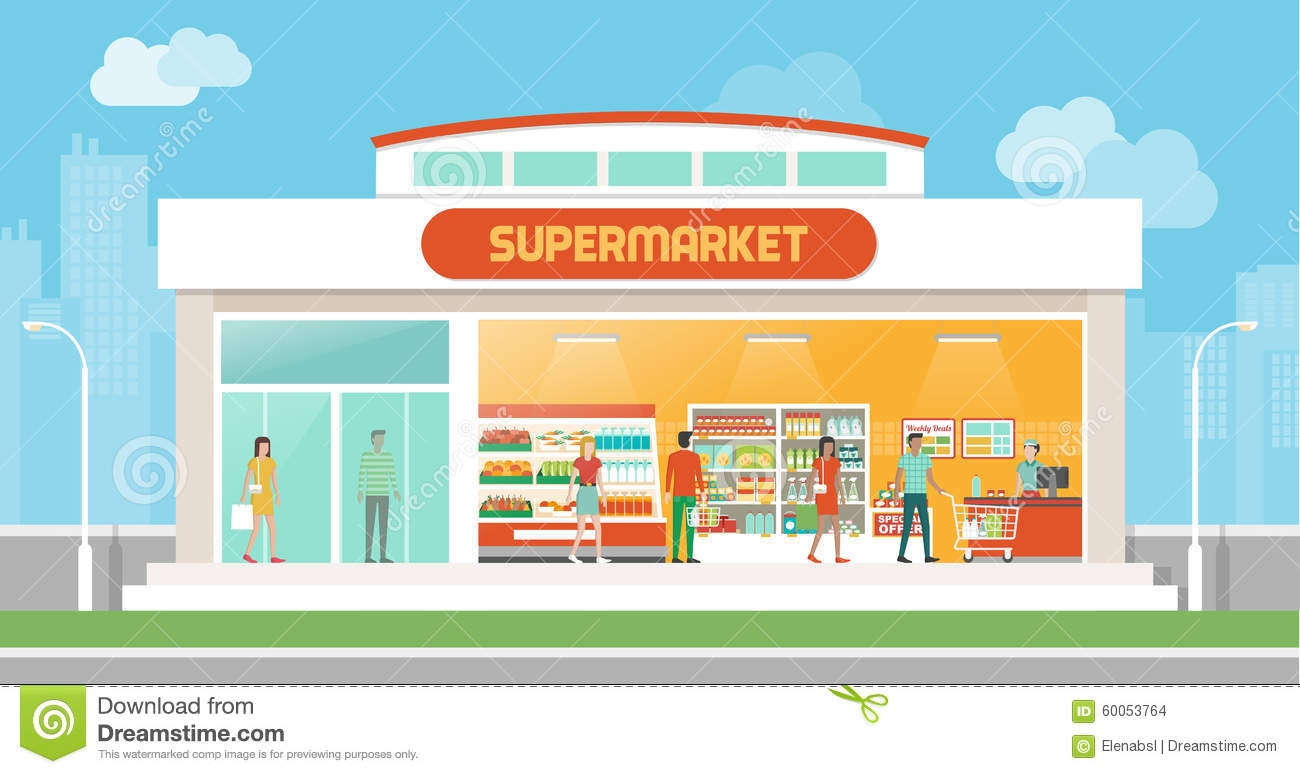 banner stock  clipartlook. Supermarket clipart