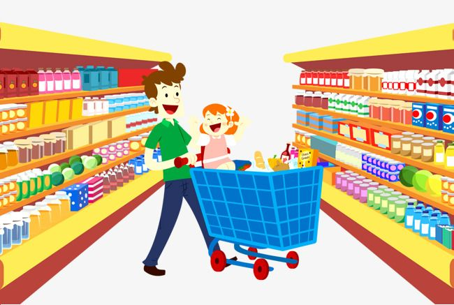 library Supermarket clipart. Shopping cart