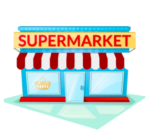 image royalty free stock Our roleplay areas little. Supermarket clipart.