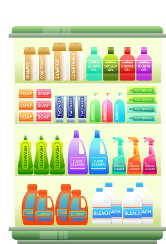 jpg freeuse library Supermarket clipart aisle. Hygiene products clipground cleaning