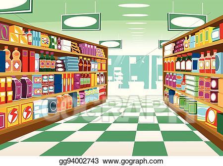 vector freeuse Clip art vector stock. Supermarket clipart aisle