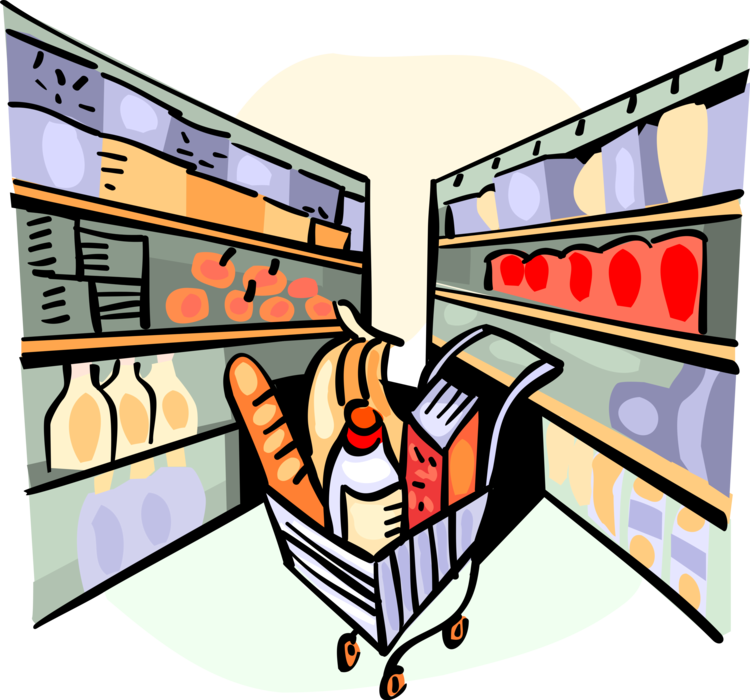 clip library download Store shelves with products. Supermarket clipart aisle