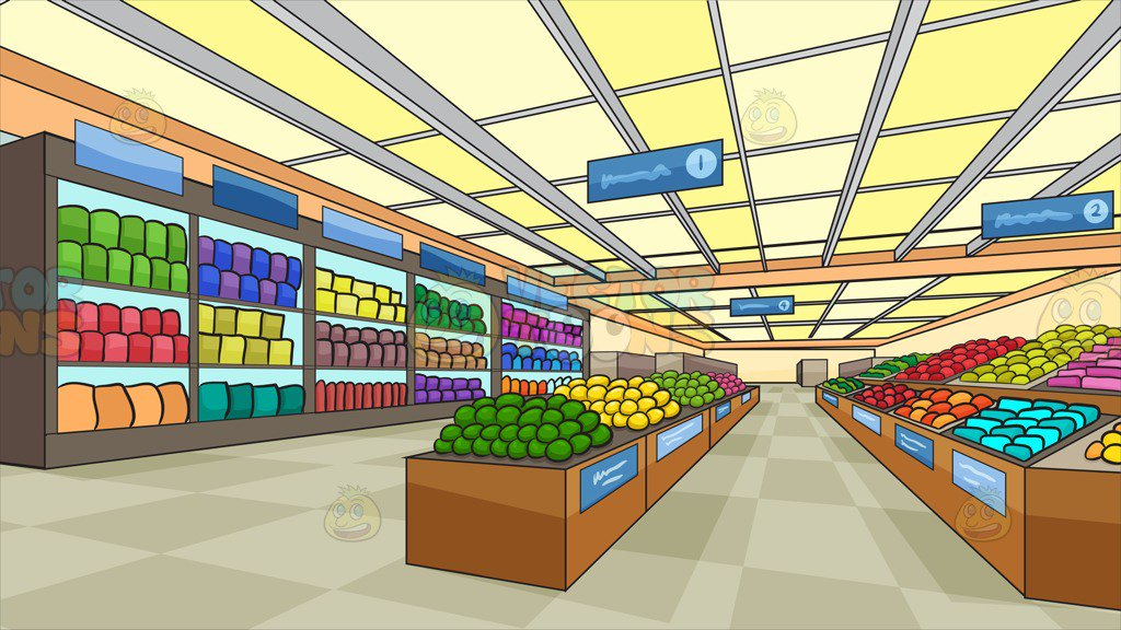 banner library library Background . Supermarket clipart backdrop