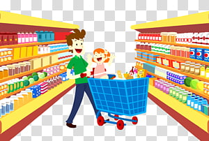 png black and white stock Grocery store shopping cart. Supermarket clipart backdrop