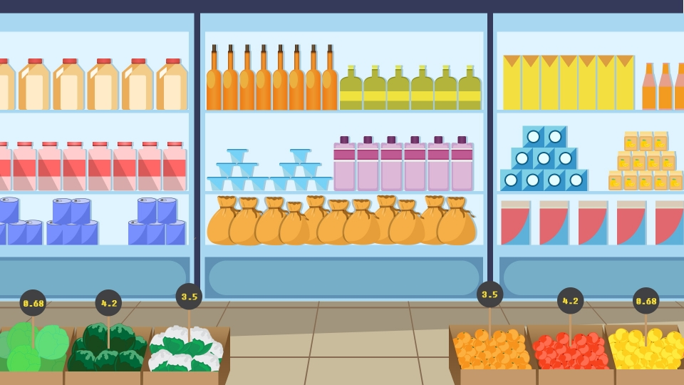 clip Supermarket clipart background. Color cartoon design