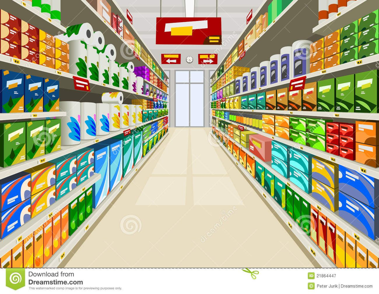 picture black and white download Stock illustrations . Supermarket clipart background
