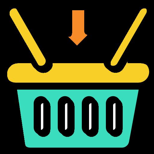 banner royalty free stock Supermarket clipart basket goods. Commerce online store shopping