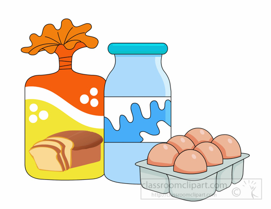 banner free library Supermarket clipart basket goods.  groceries clipartlook