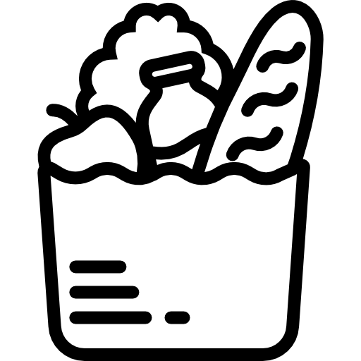 freeuse download Supermarket clipart black and white. Groceries free food icons