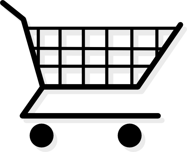 library Supermarket clipart black and white free