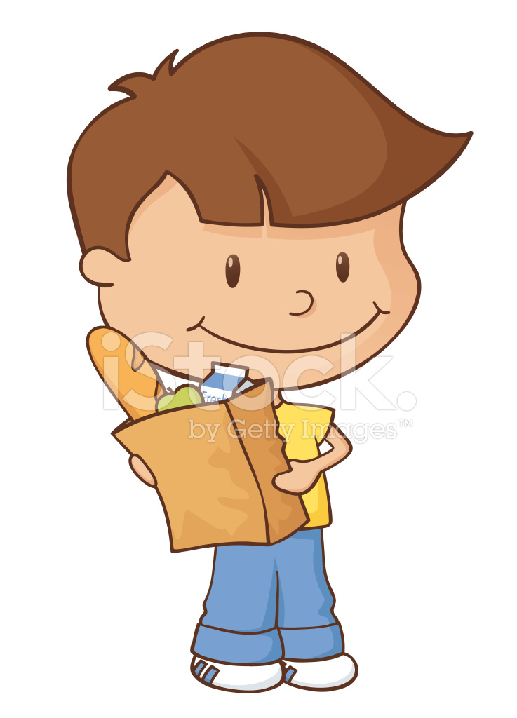 clip art royalty free library Grocery shopping boy stock. Supermarket clipart boys