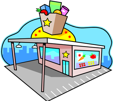 picture transparent stock Supermarket clipart building. Library clip art