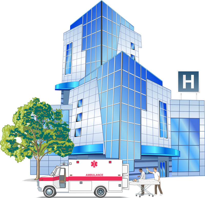 transparent Supermarket clipart building. Hospital free cliparts