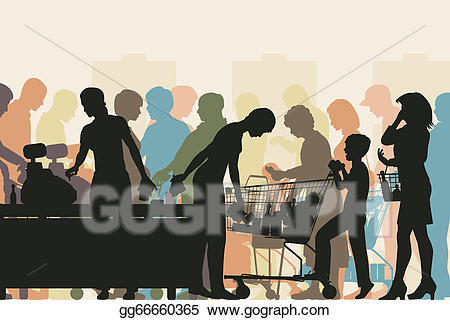 vector freeuse Eps illustration checkout vector. Supermarket clipart busy