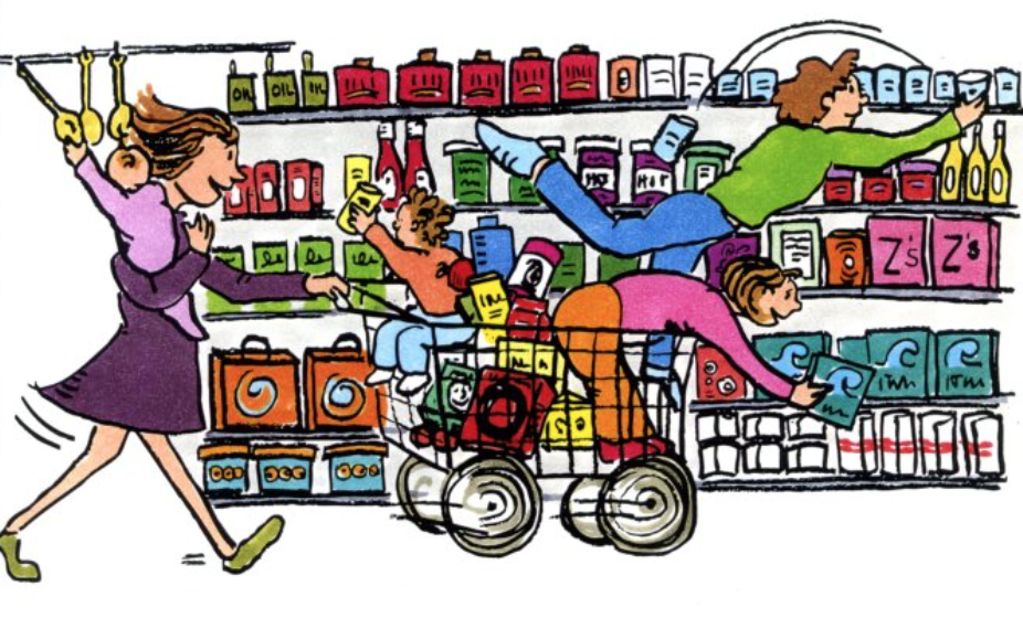 clip art free library Supermarket clipart busy. How to make grocery