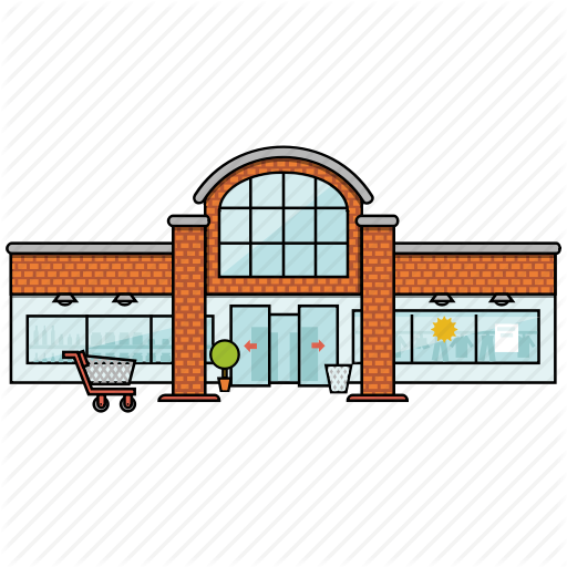 image transparent download Supermarket clipart cafe building. City bulding icons by.