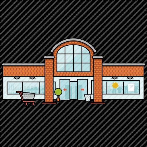 image transparent download Supermarket clipart cafe building. City bulding icons by