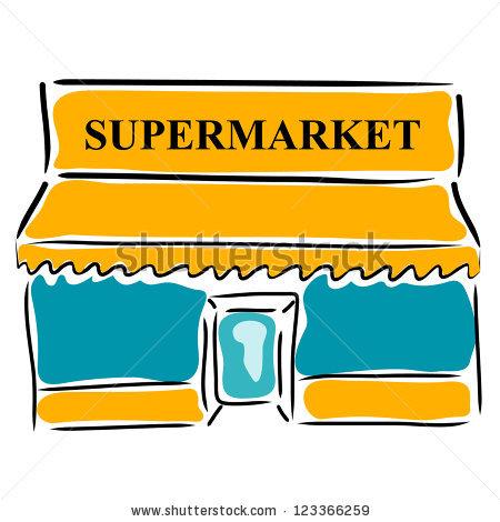 vector free stock Supermarket clipart cartoon.  clipartlook