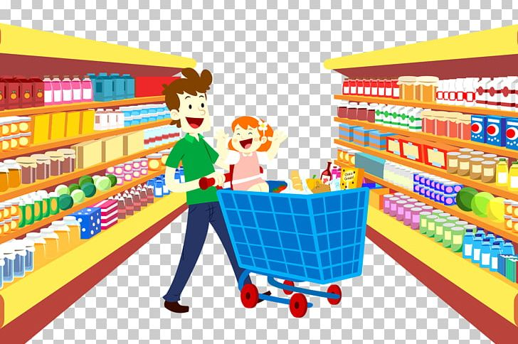 clipart stock Grocery store shopping bag. Supermarket clipart cartoon