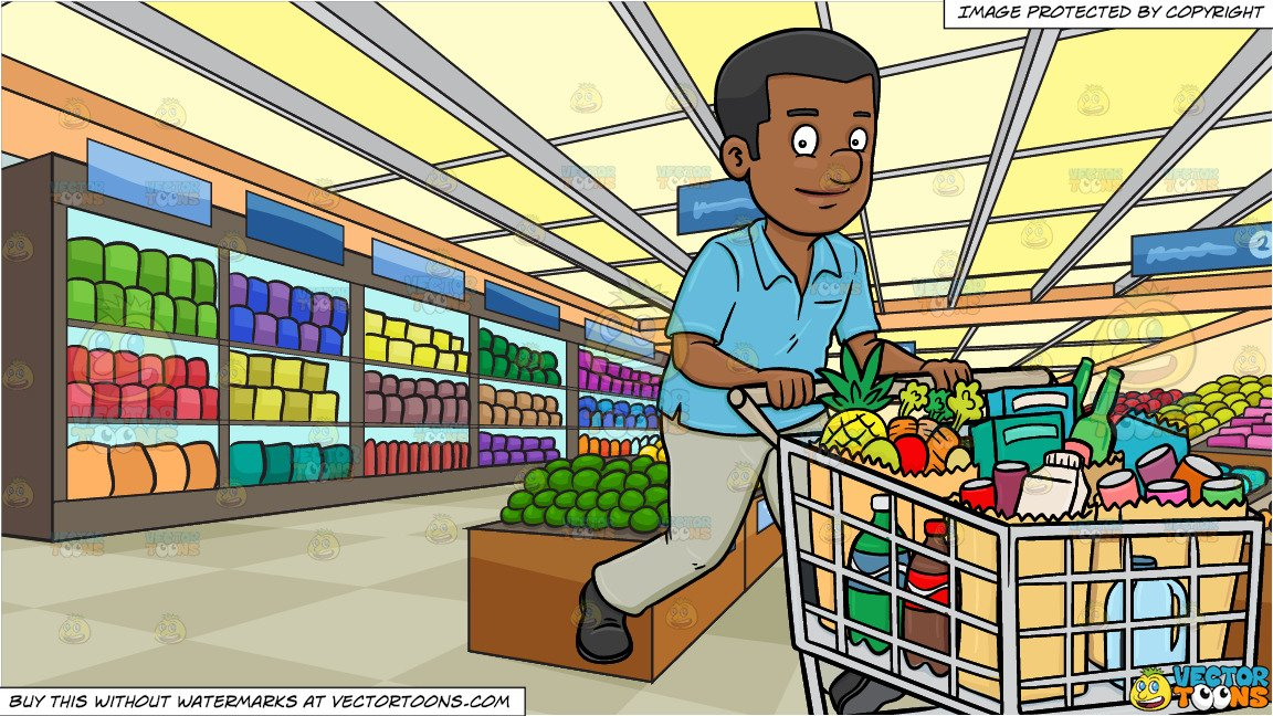 png library A black man smiles. Supermarket clipart cartoon