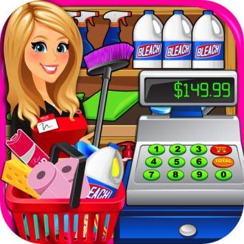 graphic download Superstore cash register simulator. Supermarket clipart casher
