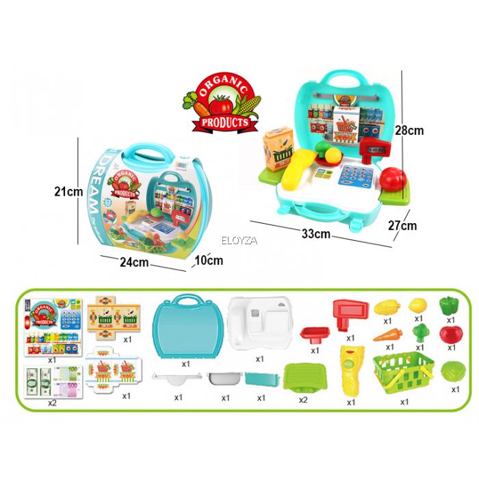 svg transparent stock Supermarket clipart casher. Playset mini