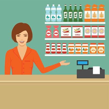 banner free Cashier image clip arts. Supermarket clipart casher